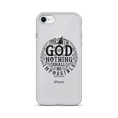 Nothing Impossible With God - iPhone Case-iPhone 7/8-Made In Agapé