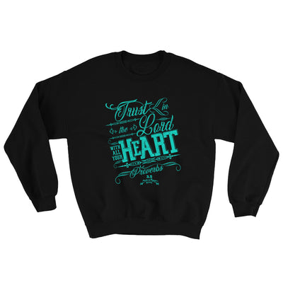 Trust In the Lord - Women's Sweatshirt-Black-S-Made In Agapé