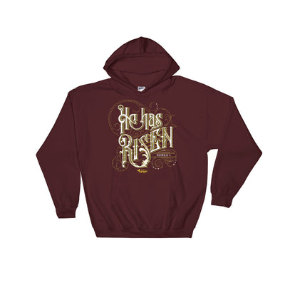 He Has Risen - Women's Hoodie-Maroon-S-Made In Agapé