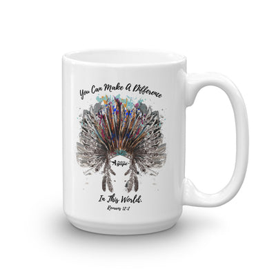 Make A Difference In This World - Coffee Mug-15oz-Made In Agapé