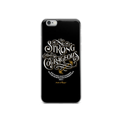 Be Strong And Courageous - iPhone Case-iPhone 6/6s-Made In Agapé