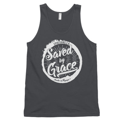 Saved By Grace - Unisex Tank-Asphalt-XS-Made In Agapé