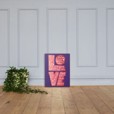 Love Is Patient - Canvas Wall Art-18×24-Made In Agapé