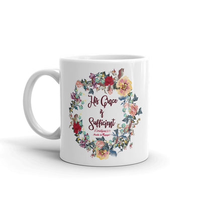 His Grace Is Sufficient - Coffee Mug-11oz-Left Handle-Made In Agapé