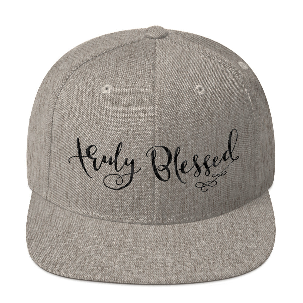 Truly Blessed - Snapback Hat-Heather Grey-Made In Agapé