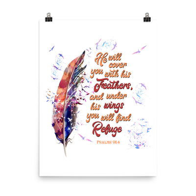 Agapé Feathers And Wings - Poster-18×24-Made In Agapé