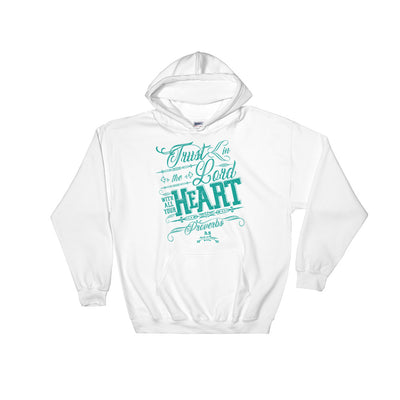 Trust In The Lord - Women's Hoodie-White-S-Made In Agapé