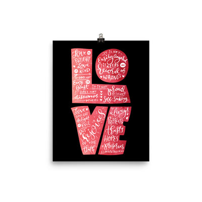 Love Is Patient - Poster-8×10-Made In Agapé