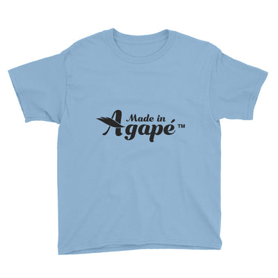Made In Agapé™ - Youth Short Sleeve Tee-Light Blue-XS-Made In Agapé