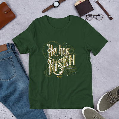He Has Risen - Unisex Crew-Forest-S-Made In Agapé