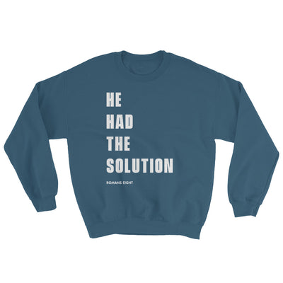 Solution Before Problem - Women's Sweatshirt-Indigo Blue-S-Made In Agapé