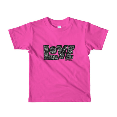 LOVE Protects - Kids T-Shirt-Fuchsia-2yrs-Made In Agapé