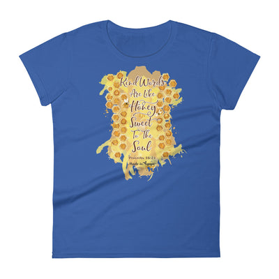 Kind Words Are Like Honey - Ladies' Fit Tee-Royal Blue-S-Made In Agapé