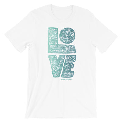 LOVE is Patient - Cozy Fit Short Sleeve Tee-White-S-Made In Agapé