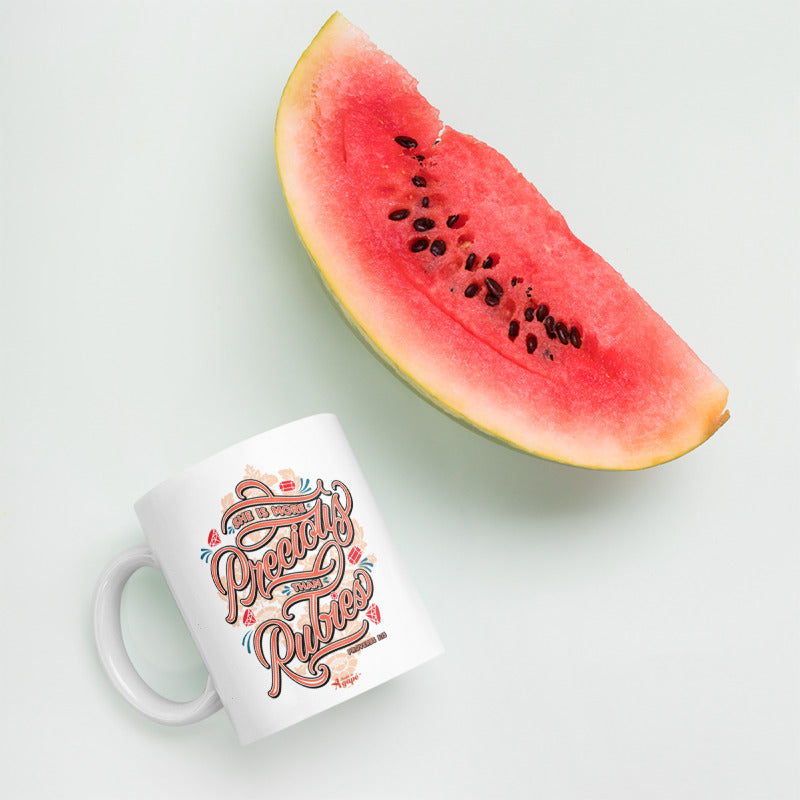 More Precious Than Rubies - Coffee Mug-Mockup-Made In Agapé