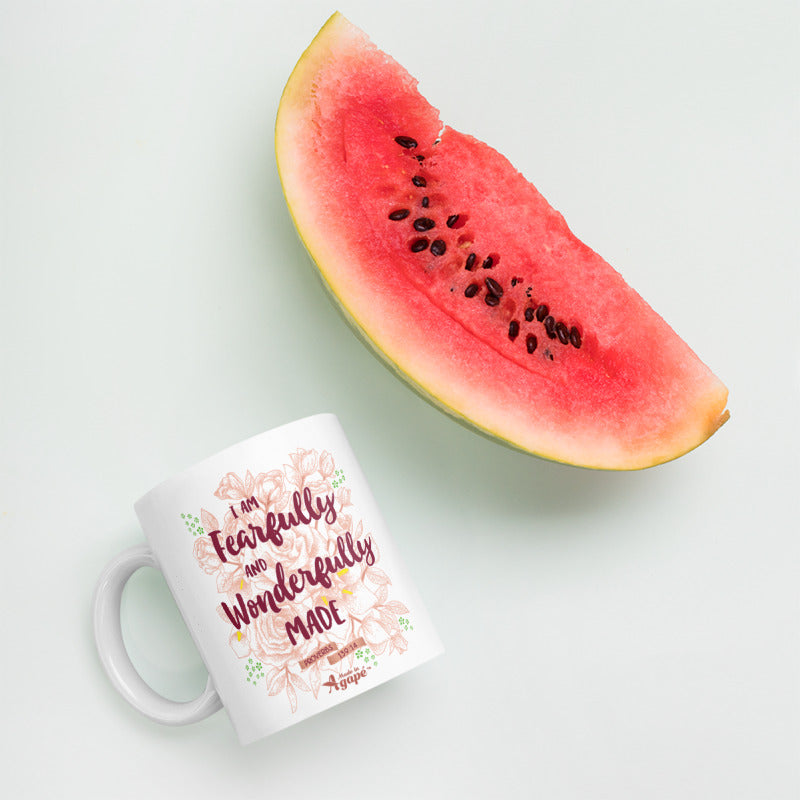 Fearfully And Wonderfully Made - Coffee Mug-Mockup-Made In Agapé