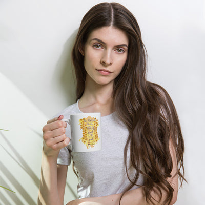 Kind Words Are Like Honey - Coffee Mug-Woman holding mug-Made In Agapé