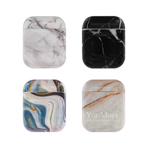 Airpods Marble Case,Full Protective Shockproof Compatiable with Apple Airpods Charging Case