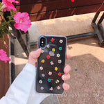 Real Dry Flower Phone Case for iPhone XS Max XR 6 7 8 Plus Soft Clear Cover