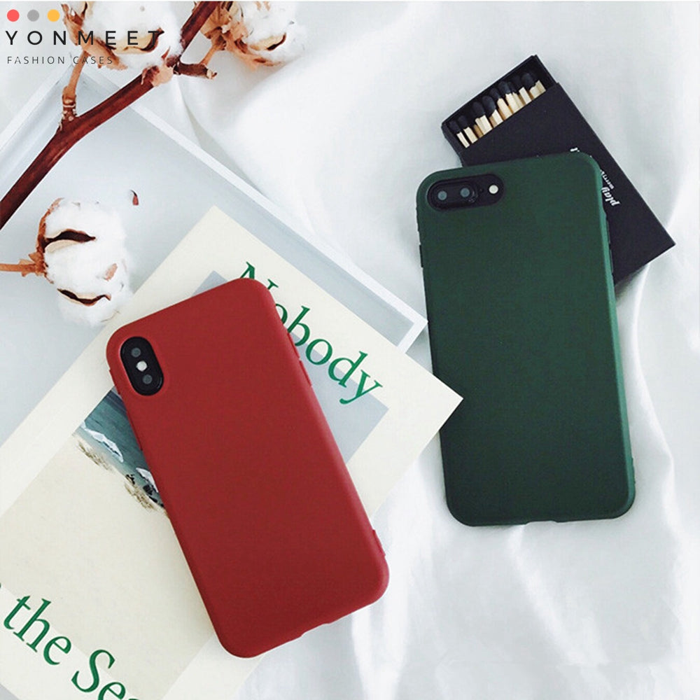 Retro Case for iPhone X 8 7 7plus Soft pro-TPU Cover for iPhone6 6Plus 6s 6sPlus Fashion Style Flexible Rubbery Slim Cover