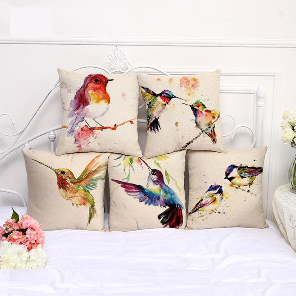Cushion cover | bird | oil painting