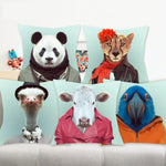 Cushion cover | Animals | clothes