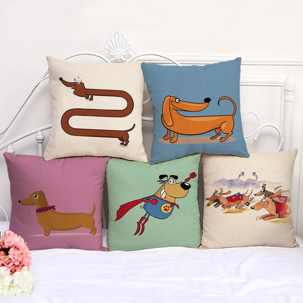 Cushion cover | Dachshund | cartooon
