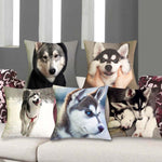 Cushion cover Husky | Siberian | snow dog