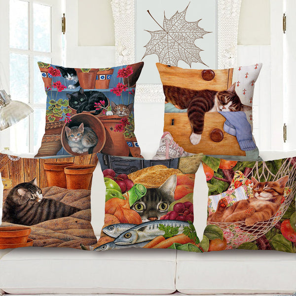 Cushion covers | Cat | colorful 2