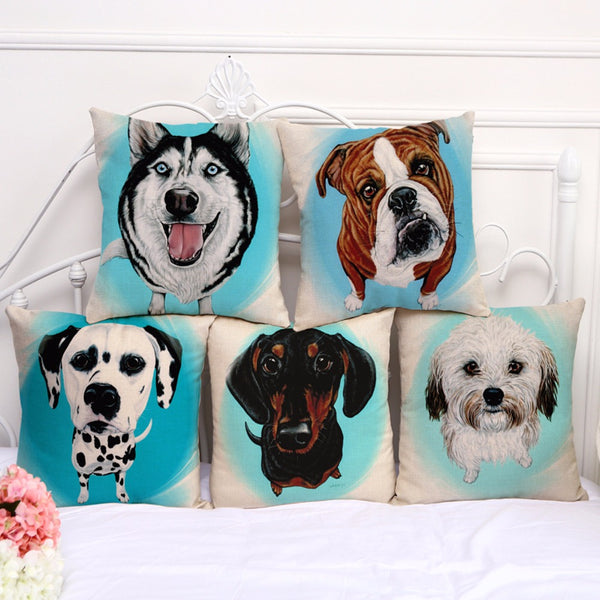 Cushion covers mix breed dogs
