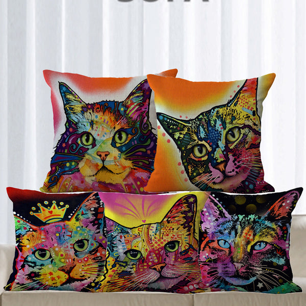 Cushion covers | Cat | colorful