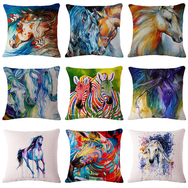 Cushion cover | Horse | Zebra