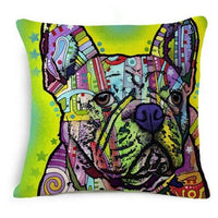 Cushion Cover | Dogs | Colorful | Oil painting