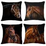Cushion cover | Horse | Black
