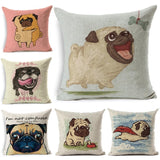 Cushion cover | Pug | cartoon