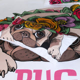 Bedding | Pug | Flowers