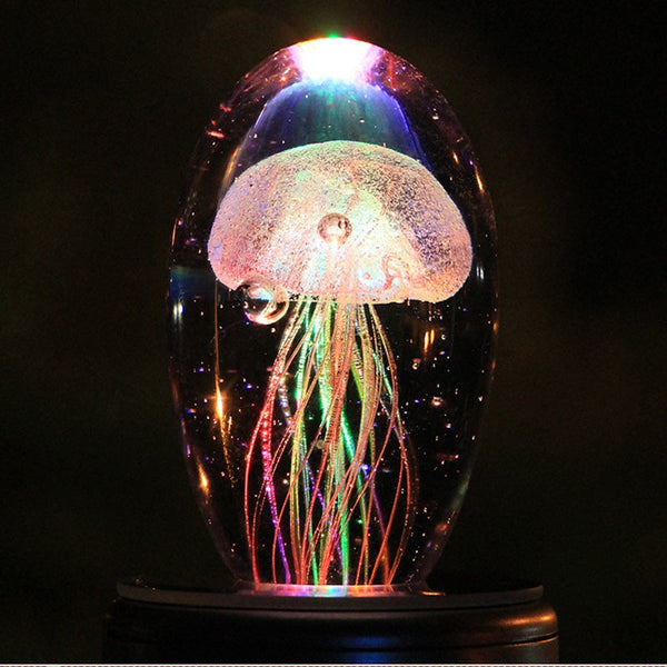 Night lights | Crystal table lamp | Jelly fish