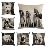 Cushion Cover | Dogs | Cats | Black and white
