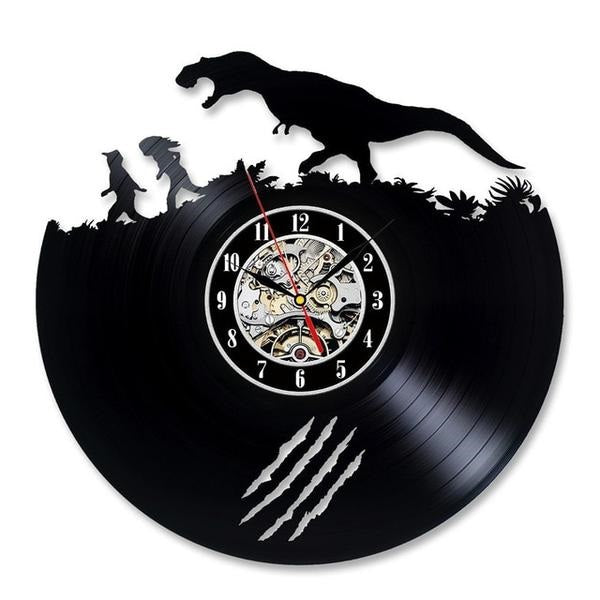 Vinyl record clock | Jurassic world