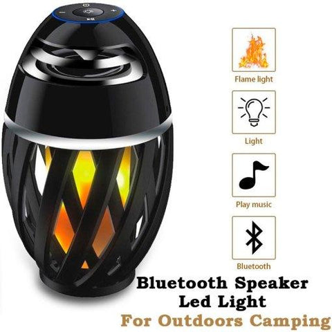 Portable Bluetooth Speaker LED Light Flame