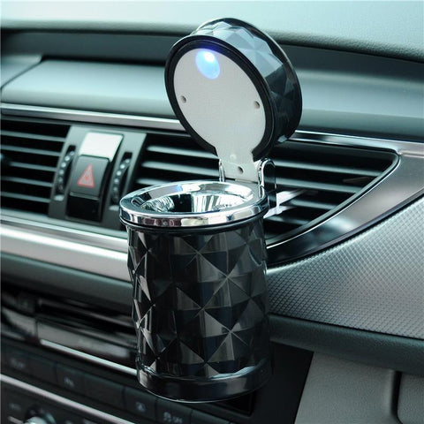 Luxury Car Portable Ashtray LED Light Holder