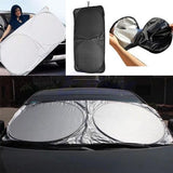 Front Rear Car Window Sun Shade UV Reflector