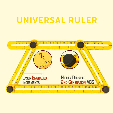 4 sided adjustable  Measuring Ruler