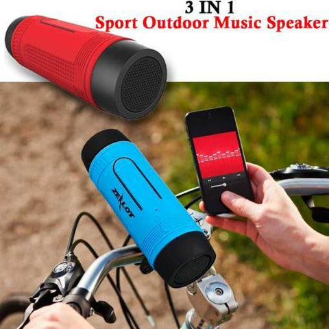 Portable Multifunction Wireless Bluetooth Sport Music Speaker