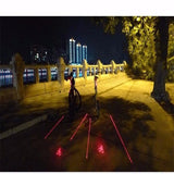 5 LED 2 LASER BEAMS BIKE LOGO TAIL LIGHT