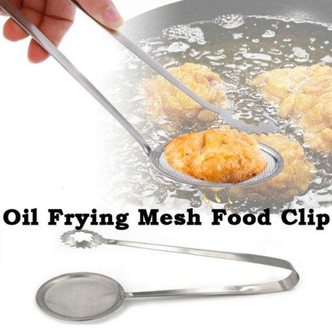 Stainless Steel Oil Drain Frying Mesh Food Clip