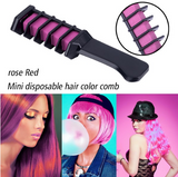 6PCS/Temporary Hair Color Chalk With Comb