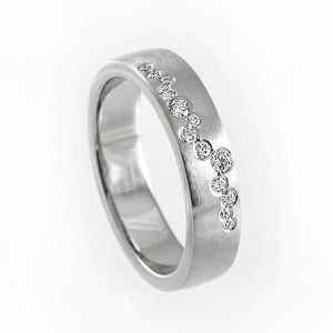 Unique diamond wedding ring, diamond wedding band, unique engagement ring, contemporary diamond wedding band, modern wedding ring