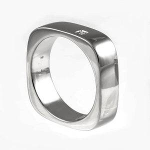 Men's wedding band, mans titanium ring, unisex ring, titanium wedding ring, square wedding ring, mens modern wedding band, mens diamond ring