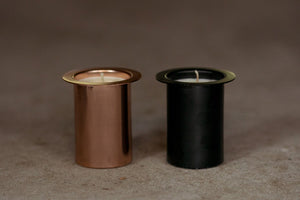 BLACK REFILL - 100% SOY WAX CANDLE INSERT